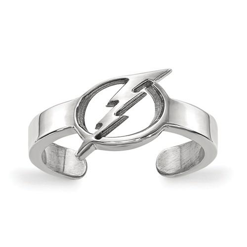 Sterling Silver Tampa Bay Lightning Toe Ring