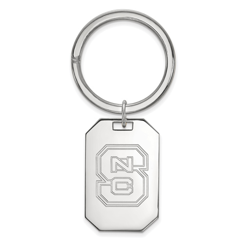 Sterling Silver North Carolina State University Key Chain