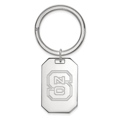 Sterling Silver North Carolina State University Key Chain