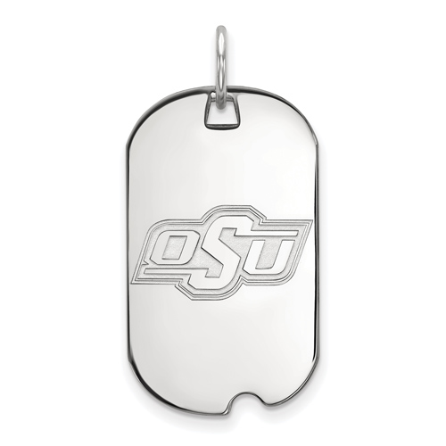 Sterling Silver Oklahoma State University Small Dog Tag