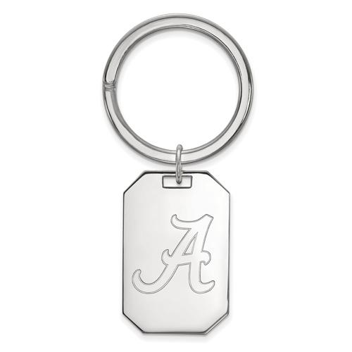 Sterling Silver University of Alabama OSU Key Chain