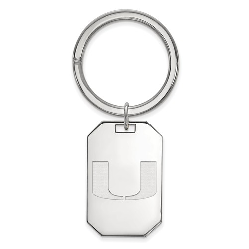 Sterling Silver University of Miami Key Chain