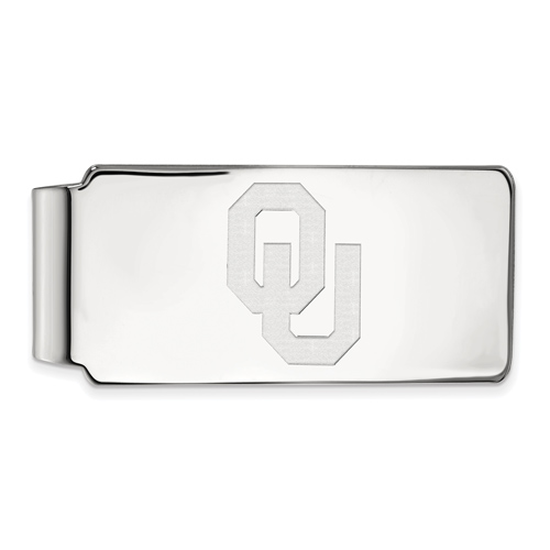 Sterling Silver University of Oklahoma OU Money Clip