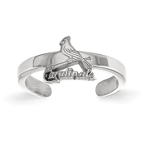 sterling silver st louis cardinals toe ring ss027crd joy jewelers. Black Bedroom Furniture Sets. Home Design Ideas