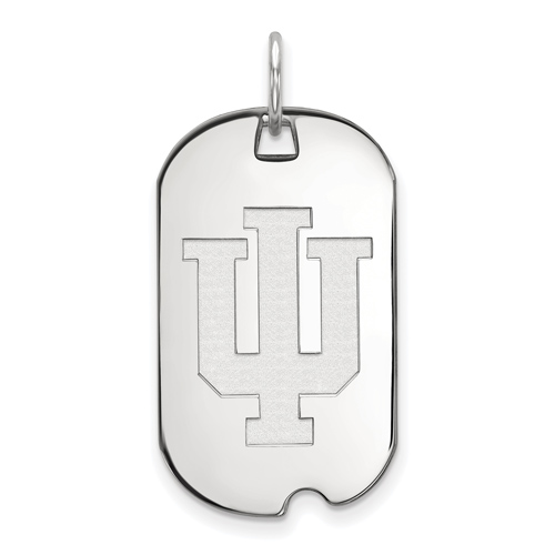 Sterling Silver Indiana University Small Dog Tag