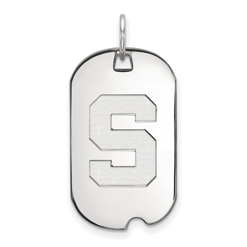 Sterling Silver Michigan State University Small Dog Tag