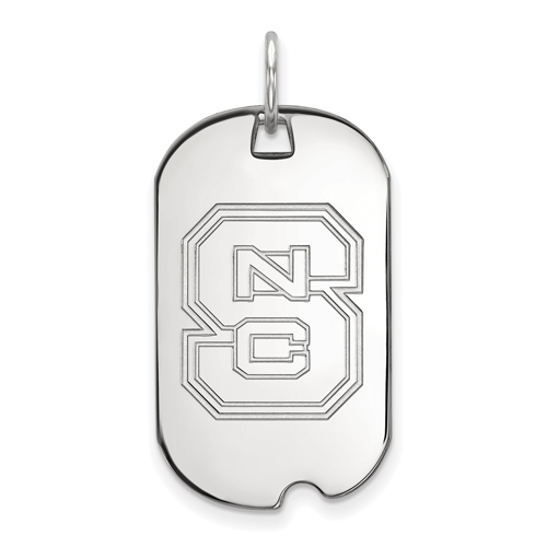 Sterling Silver North Carolina State University Small Dog Tag