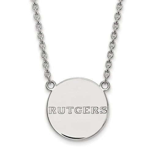 Sterling Silver Rutgers University Logo Necklace
