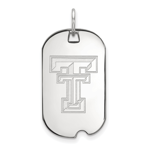 Sterling Silver Texas Tech University Small Dog Tag