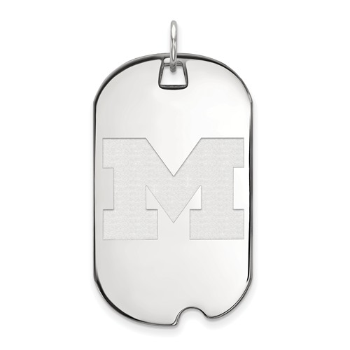 Sterling Silver University of Michigan Dog Tag