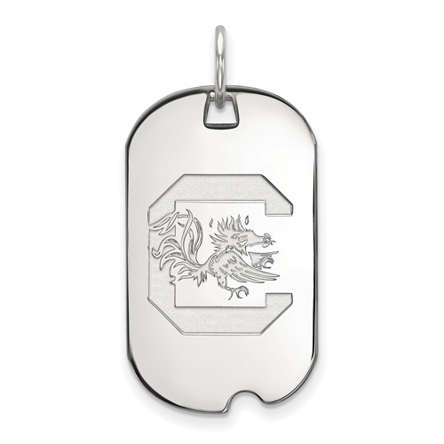 Sterling Silver University of South Carolina Small Dog Tag