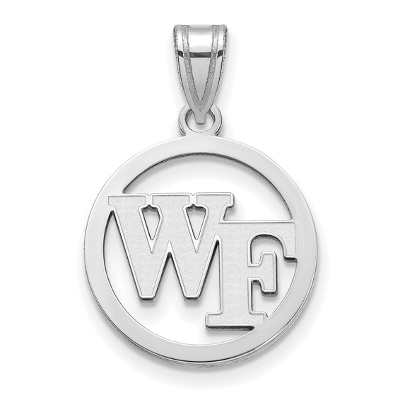 Wake Forest University Circle Pendant Sterling Silver