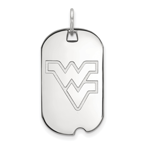 Sterling Silver West Virginia University Small Dog Tag