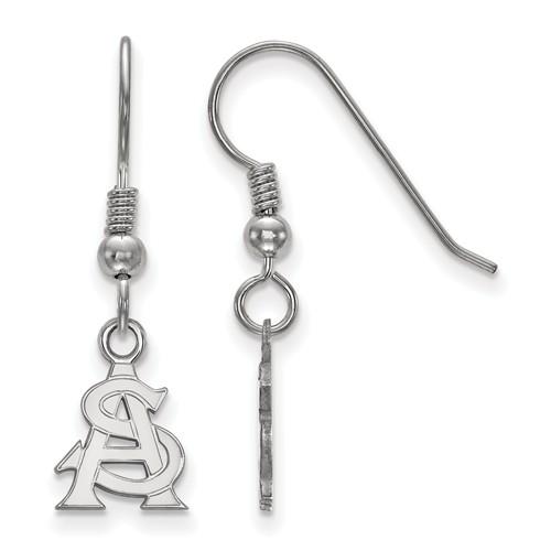 Arizona State University Dangle Earrings Sterling Silver