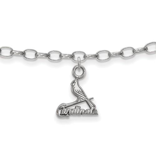 sterling silver st louis cardinals anklet ss028crd joy jewelers. Black Bedroom Furniture Sets. Home Design Ideas