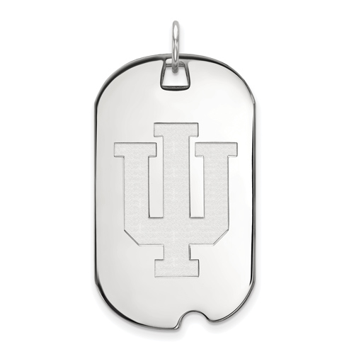 Sterling Silver Indiana University Dog Tag