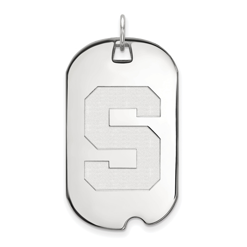 Sterling Silver Michigan State University Dog Tag