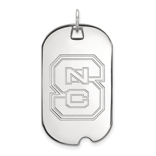 Sterling Silver North Carolina State University Dog Tag