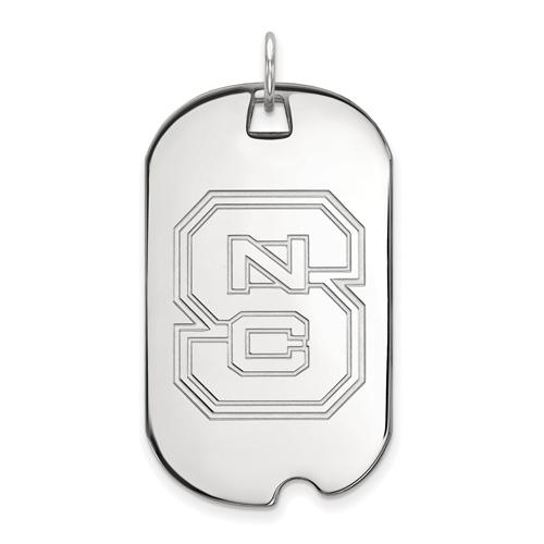 Sterling Silver North Carolina State University Dog Tag