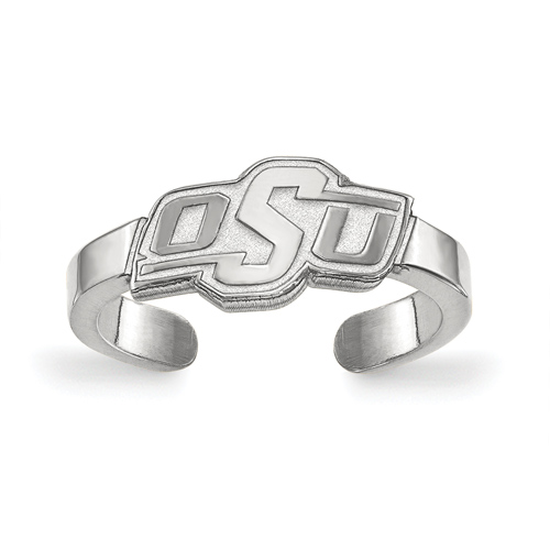 Sterling Silver Oklahoma State University Toe Ring