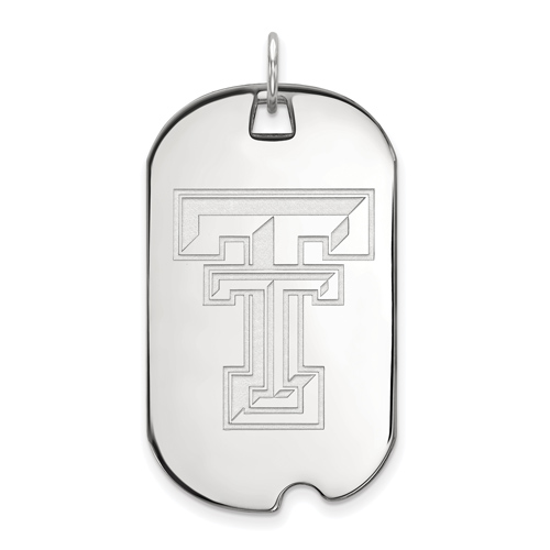 Sterling Silver Texas Tech University Dog Tag