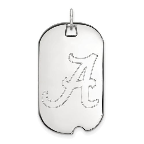 Sterling Silver University of Alabama Dog Tag