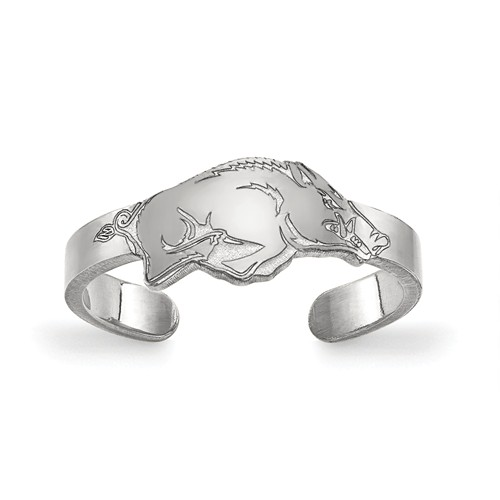 Sterling Silver University of Arkansas Toe Ring