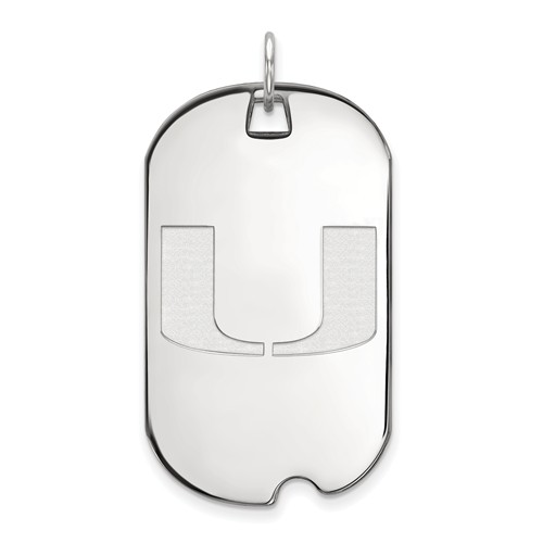 Sterling Silver University of Miami Dog Tag