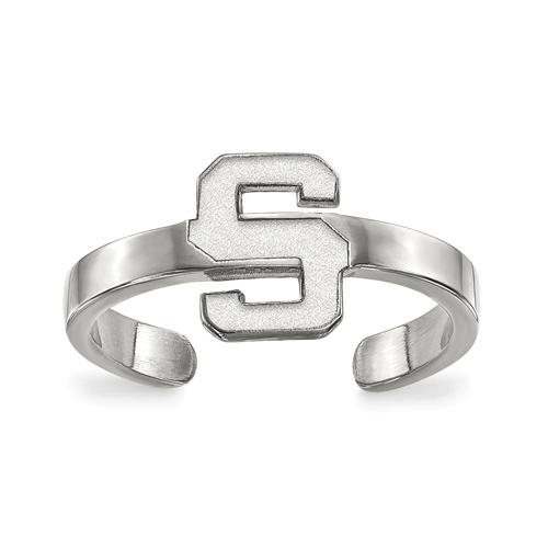 Sterling Silver Michigan State University Toe Ring