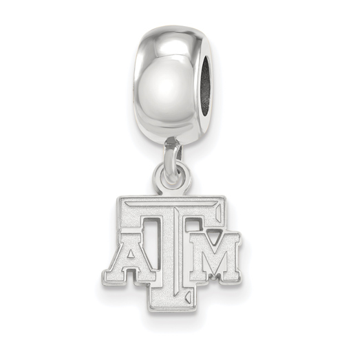 Sterling Silver Texas A&M University Extra Small Dangle Bead