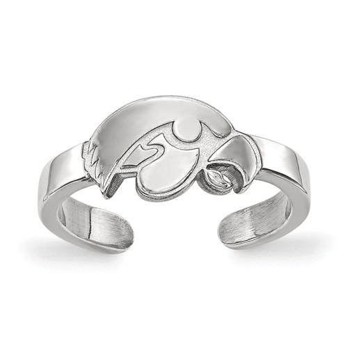 Sterling Silver University of Iowa Toe Ring
