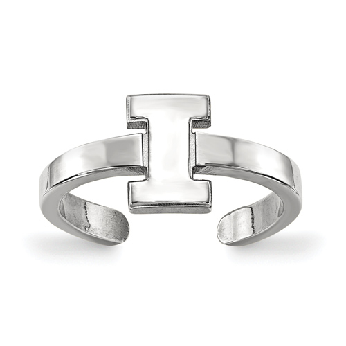 Sterling Silver University of Illinois Toe Ring