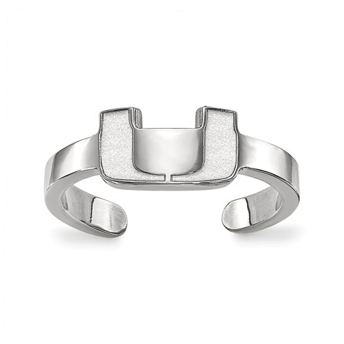Sterling Silver University of Miami Toe Ring