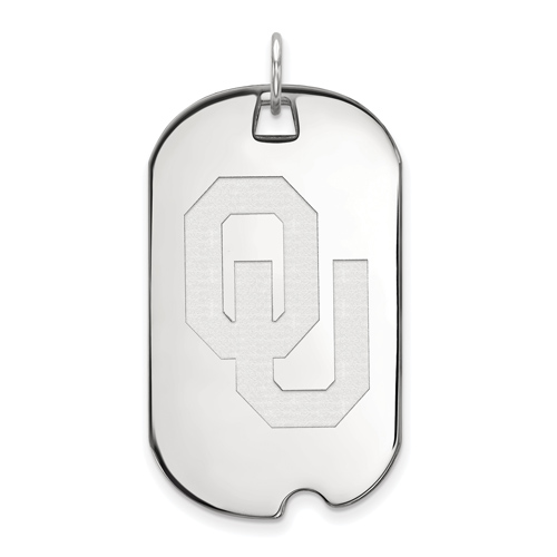 Sterling Silver University of Oklahoma OU Dog Tag