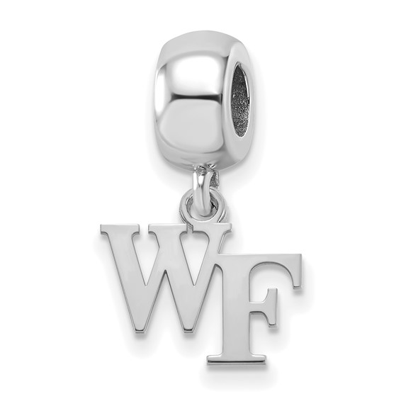 Wake Forest University WF Tiny Dangle Bead Sterling Silver