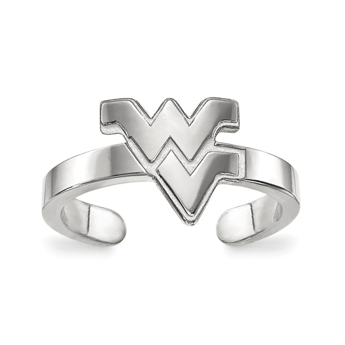 Sterling Silver West Virginia University Toe Ring