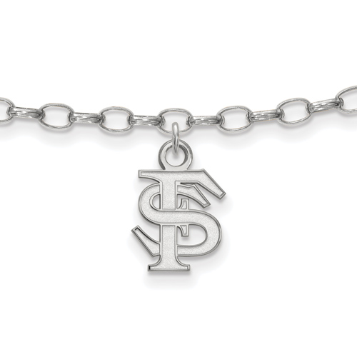 Sterling Silver Florida State University Anklet