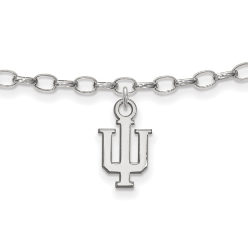 Sterling Silver 9in Indiana University Anklet