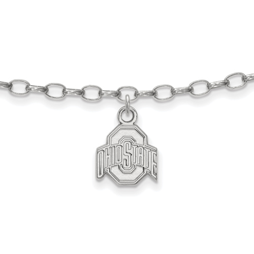 Sterling Silver Ohio State University Anklet