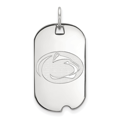 Sterling Silver Penn State University Small Dog Tag