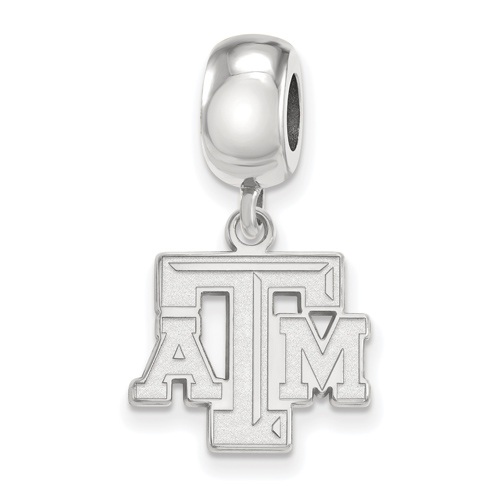 Sterling Silver Texas A&M University Dangle Bead Charm