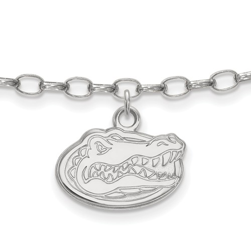 Sterling Silver 9in University of Florida Anklet