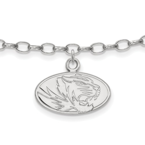 Sterling Silver 9in University of Missouri Anklet
