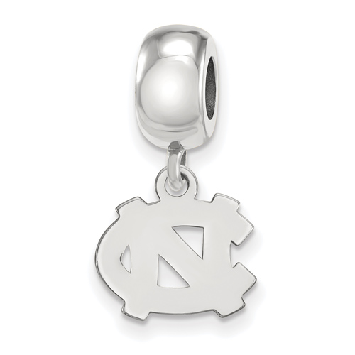 Sterling Silver University of North Carolina Extra Small Dangle Bead