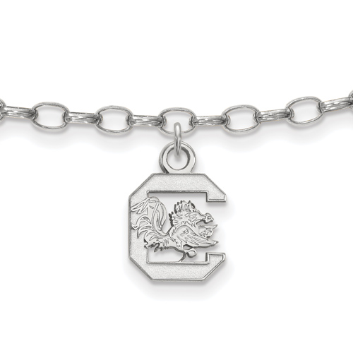 Sterling Silver 9in University of South Carolina Anklet