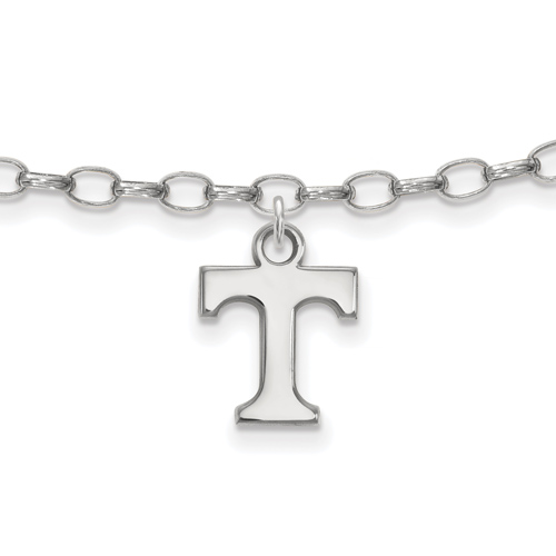 Sterling Silver 9in University of Tennessee Anklet