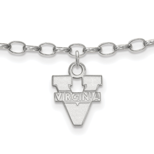 Sterling Silver 9in University of Virginia Anklet