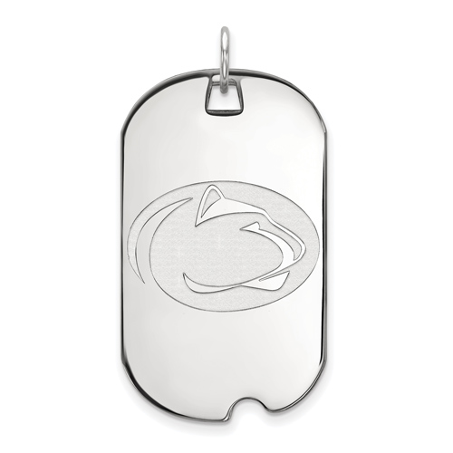 Sterling Silver Penn State University Dog Tag