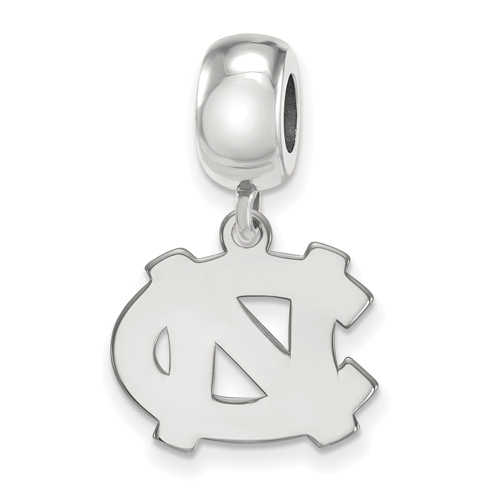 Sterling Silver University of North Carolina NC Dangle Bead Charm