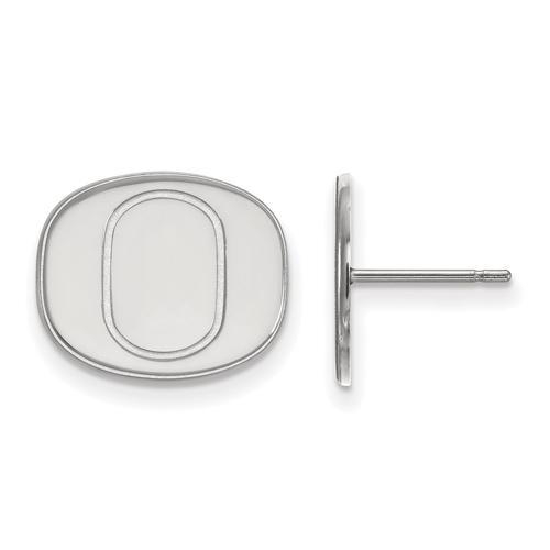 Sterling Silver University of Oregon O Small Post Earrings
